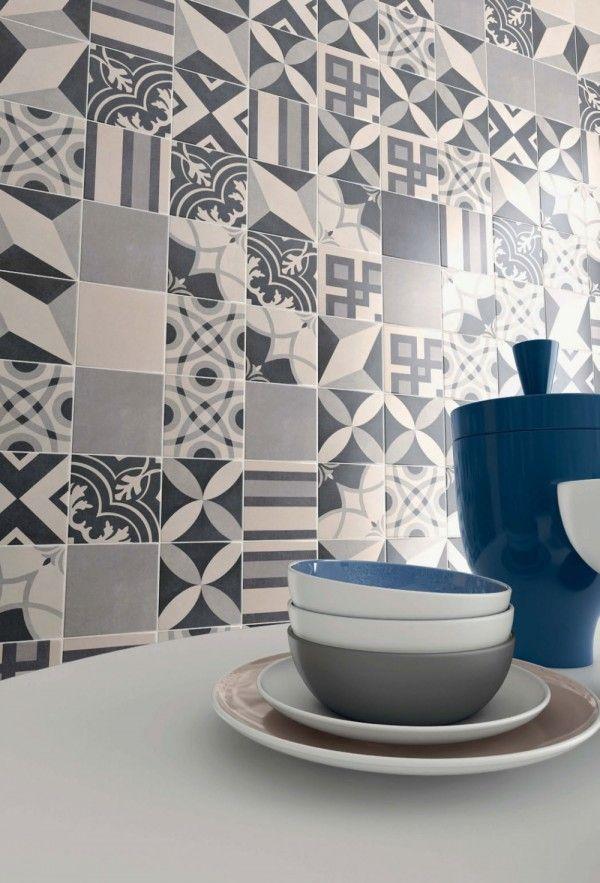 Carrelage imitation carreaux de ciment 7 id es tendance carreaux de cim - Carrelage salle de bain style ancien ...