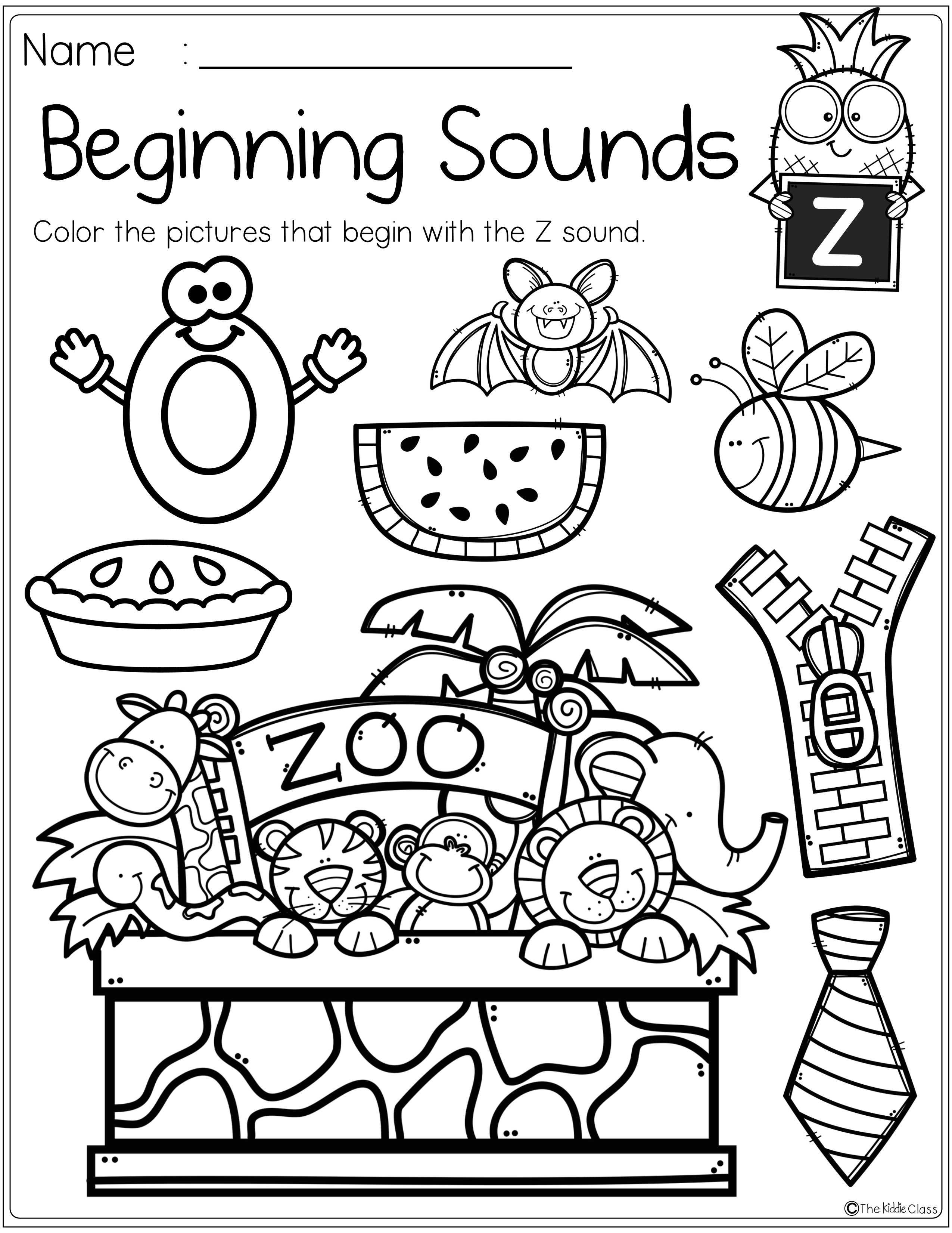 Alphabet Beginning Sounds Printables Beginning Sounds Kindergarten Beginning Sounds Beginning Sounds Worksheets [ 3300 x 2550 Pixel ]