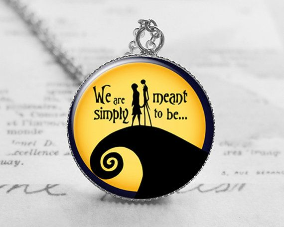 Nightmare Before Christmas Necklace, Simply Meant to Be, Jack ...
