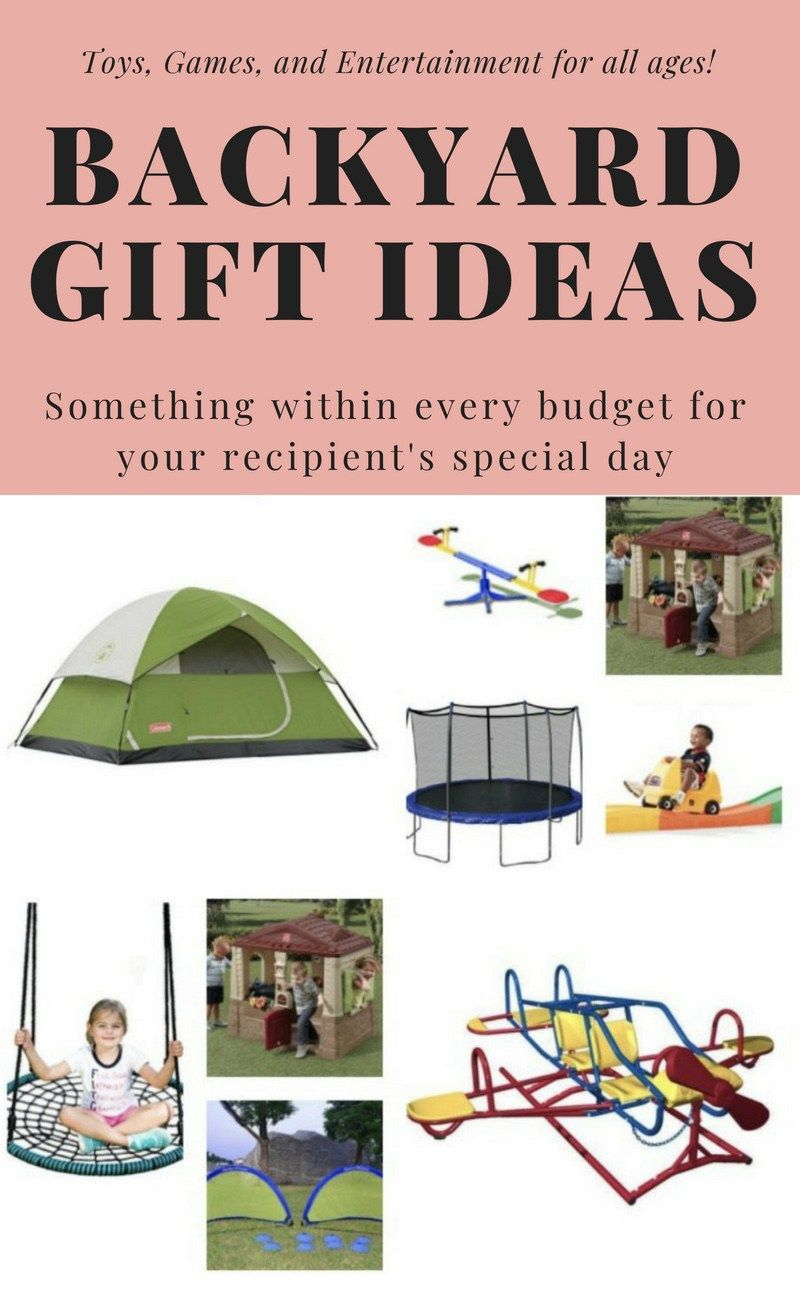 This list of 22+ backyard gift ideas featuring toys and games for