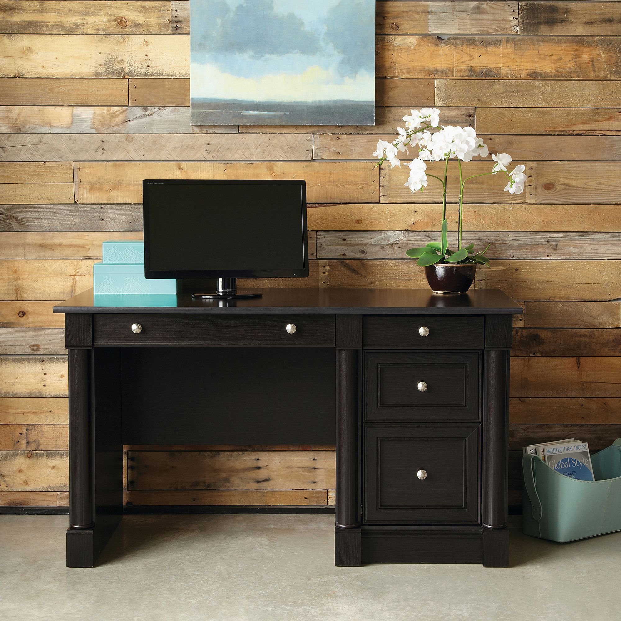 Sauder Palladia Computer Desk, Multiple Finishes