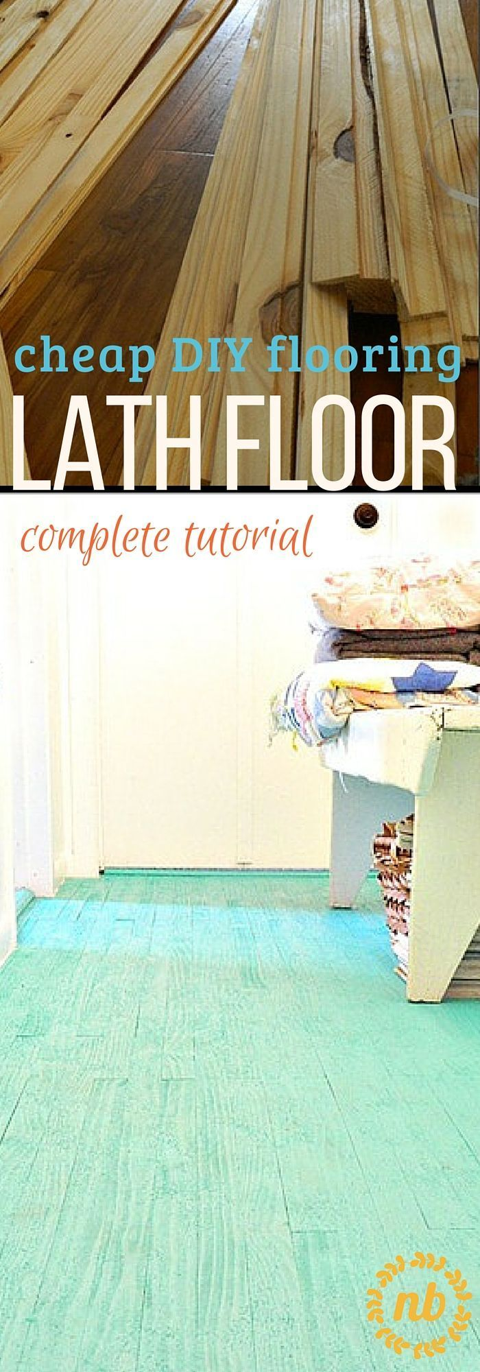 Cheap flooring idea: lath floor tutorial   DIY & Self Sufficiency ...