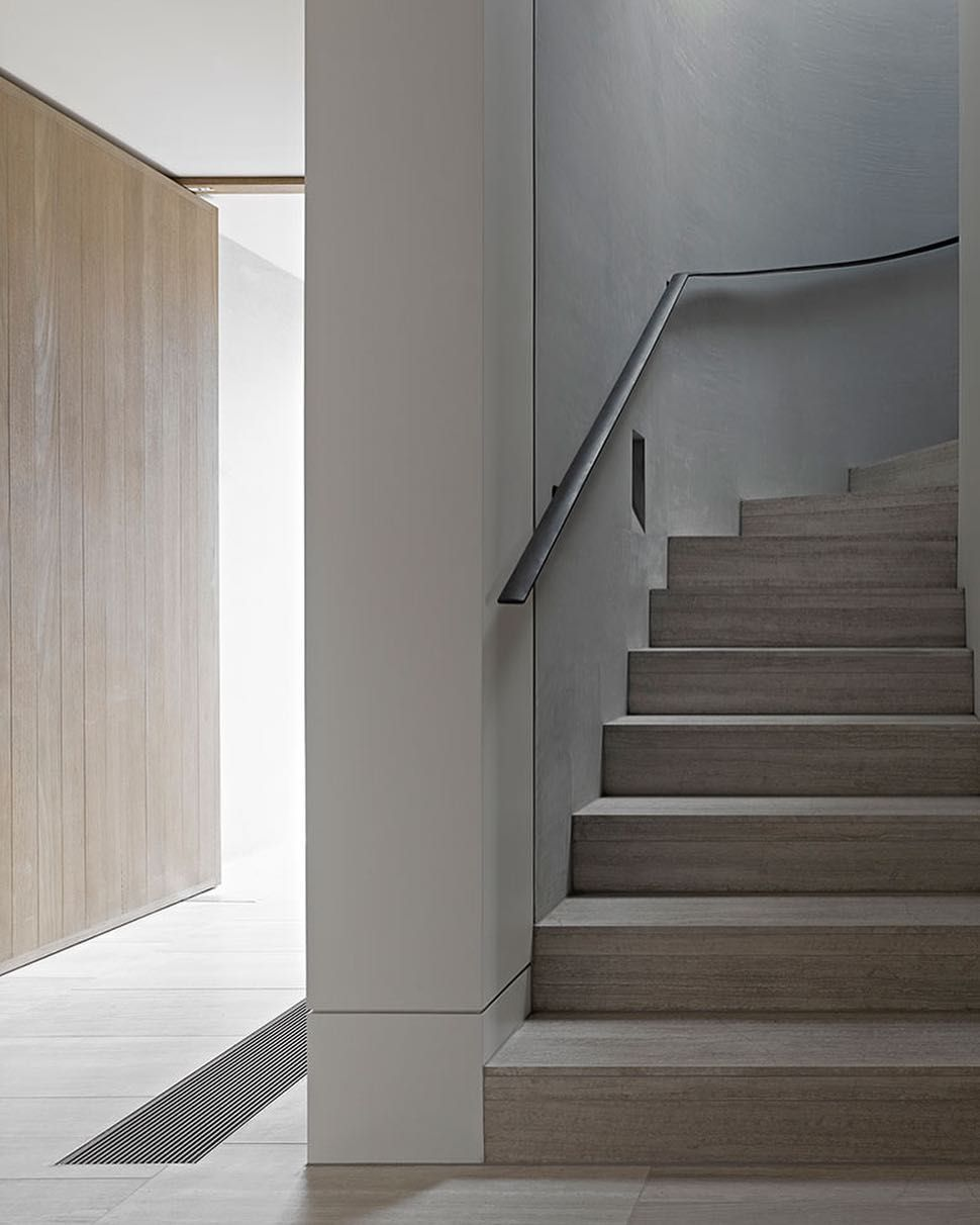 Modern Interior Staircase Materials Photo: Warm, Natural Materials On The Stair Of The Cassell Street