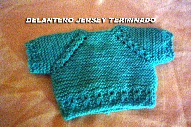 Conociendo artesanas como hacer un jersey para un nenuco - Como hacer un jersey de punto ...