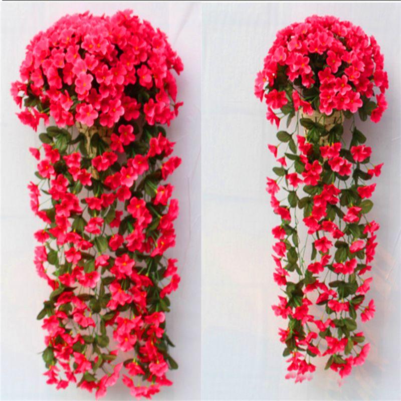 Diy Wedding Decoration Artificial Flowers Pattern Violet Wall