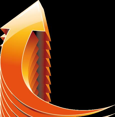 Arrow 3d Indicator Orange Yellow Freccia 3d Arancione Gialla Arrow Pointers Icon