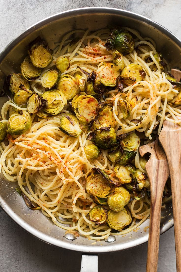 Roasted Brussel Sprout Pasta