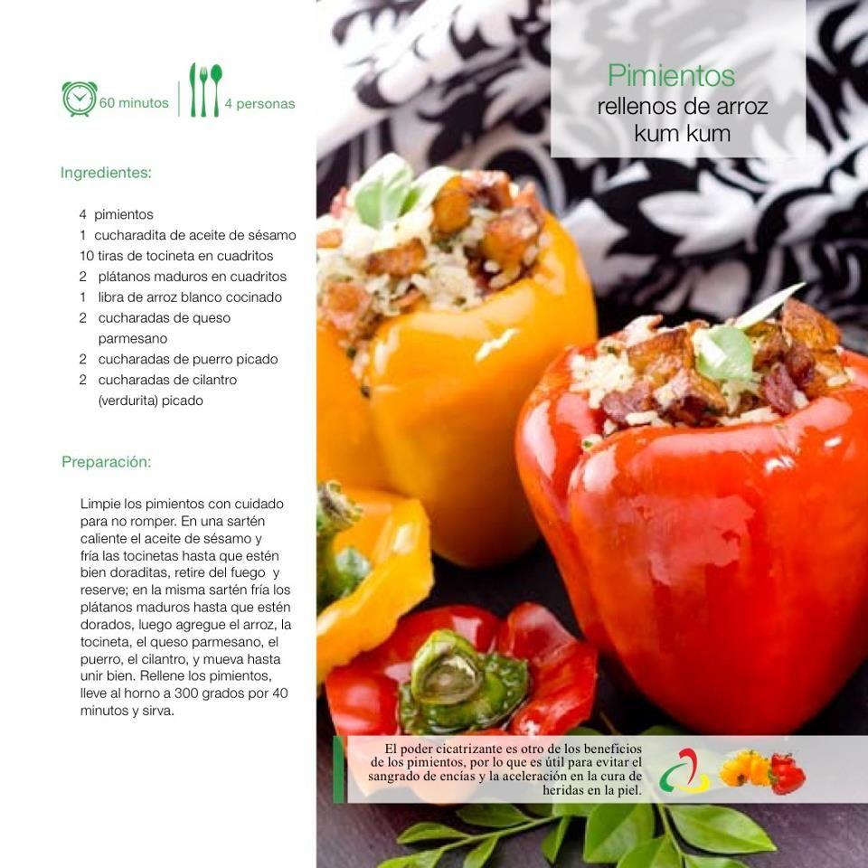 Pimientos rellenos de arroz kum kum | Lunch / Dinner | Pinterest ...