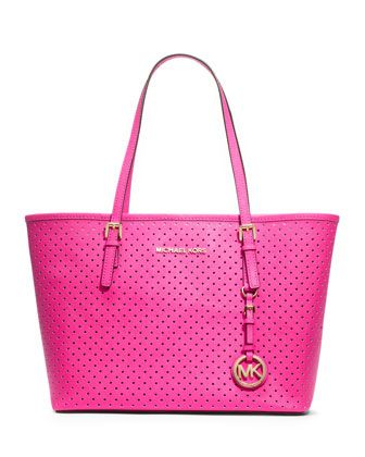 MICHAEL Michael Kors  Small Jet Set Perforated Travel Tote.