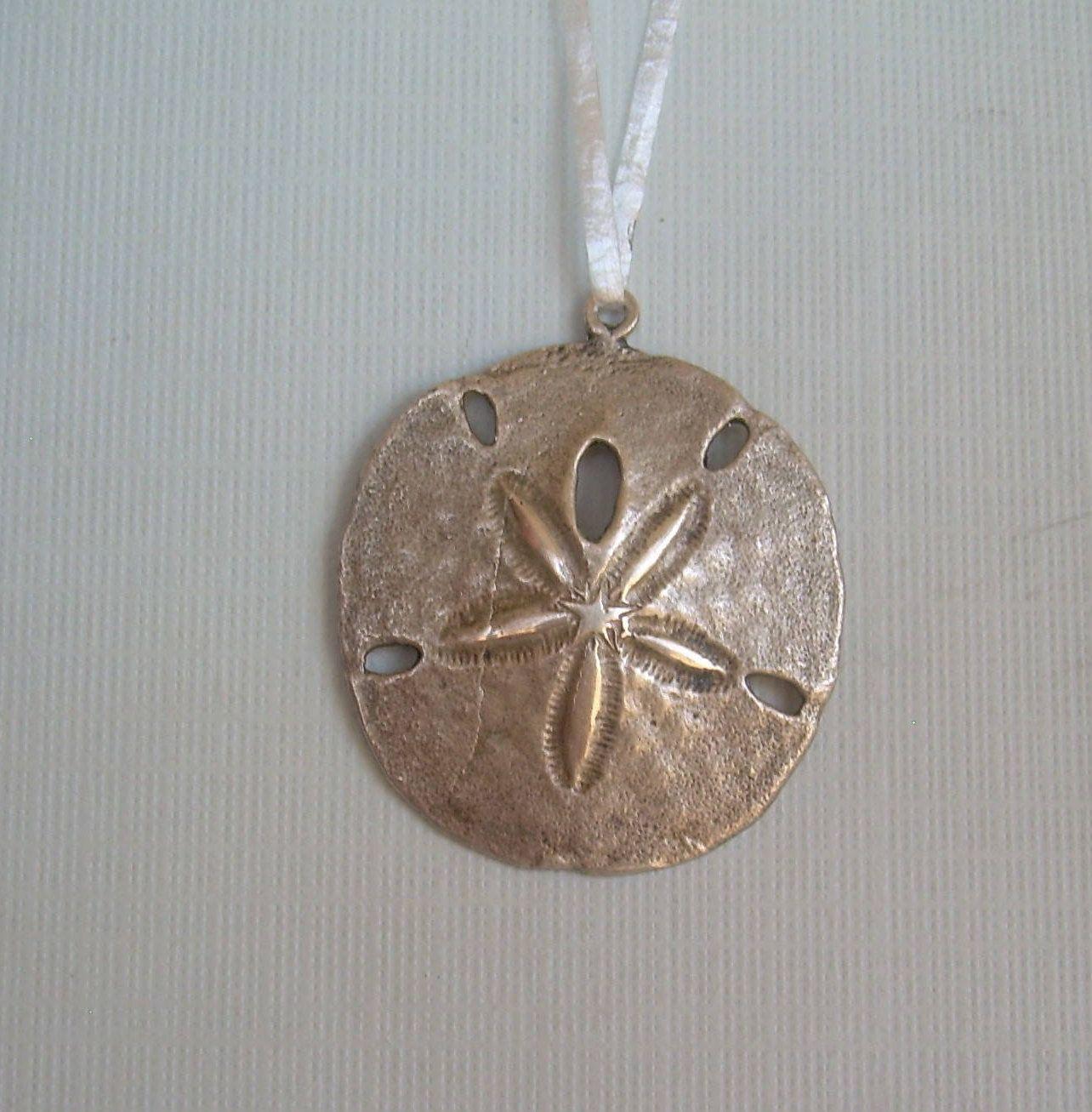 1de3b10f3d77 Large Sand Dollar Pendant Charm-Vintage Solid Sterling Silver-J C Ferrara  Hallmark-Nautical Reef Star Sealife Sea Animal Beach Jewelry-00685 by ...