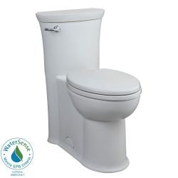 American Standard Tropic 1-Piece 1.28 GPF Elongated Toilet in White