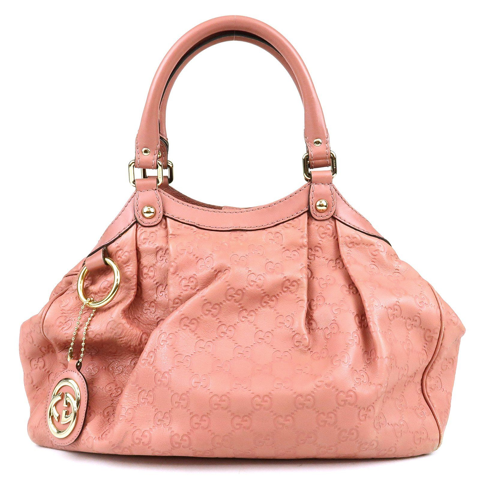 50cd00544e0a GUCCI Sukey Guccissima Leather Tote Bag Pink 211944 Used F/S  #guccileathertote