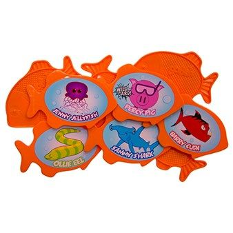 The Go Fish Dive Game From Swimways Is A Set Of Waterproof