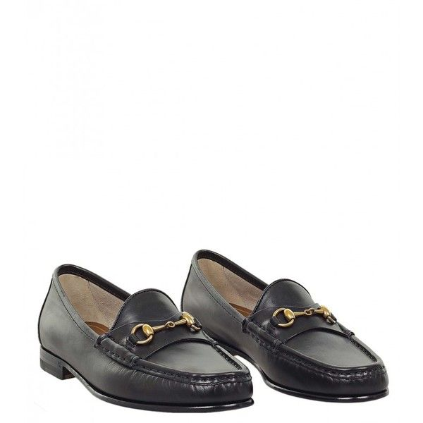 fd5b6a853e0 Gucci Black Leather 1953 Horsebit Loafer ( 505) ❤ liked on Polyvore  featuring shoes
