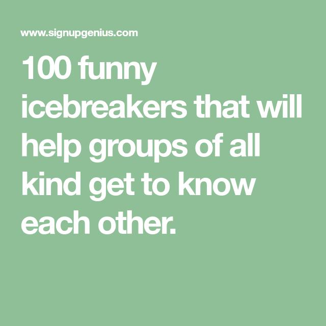 100 Funny Icebreaker Questions
