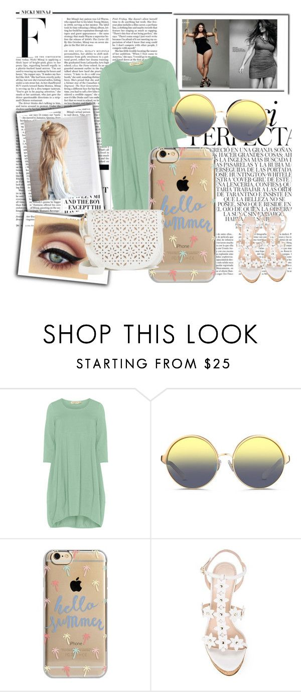 """""""Plus Size"""" by skyes-are-blue on Polyvore featuring Isolde Roth, Matthew Williamson, Agent 18, Oscar de la Renta, Under One Sky, Nicki Minaj and Whiteley"""