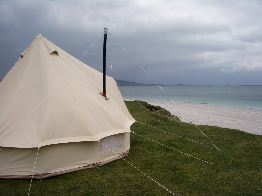 The Anevay Frontier Stove in a bell tent & How to stay warm in your bell tent in the cold. | Small Living ...