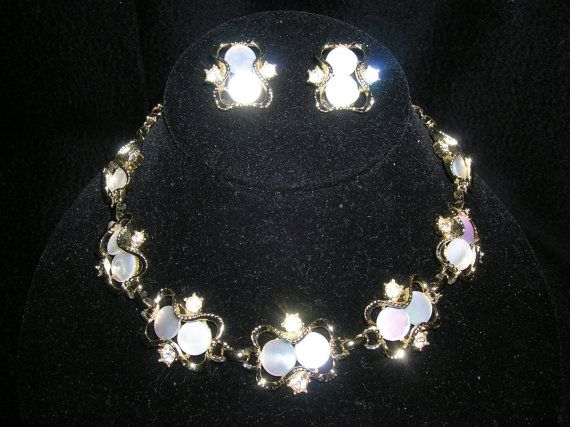 Vintage 1950s60s Mother of Pearl Clear by lilshoppeoftreasures, $35.00