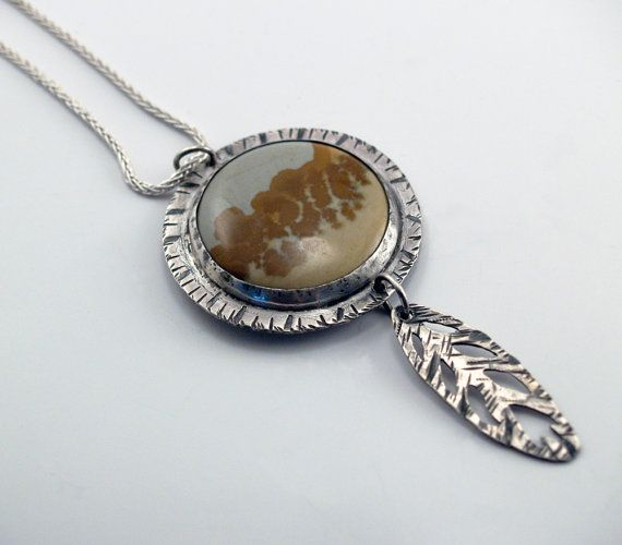 Landscape Jasper pendant with textured and by berlyndesigns, $70.00