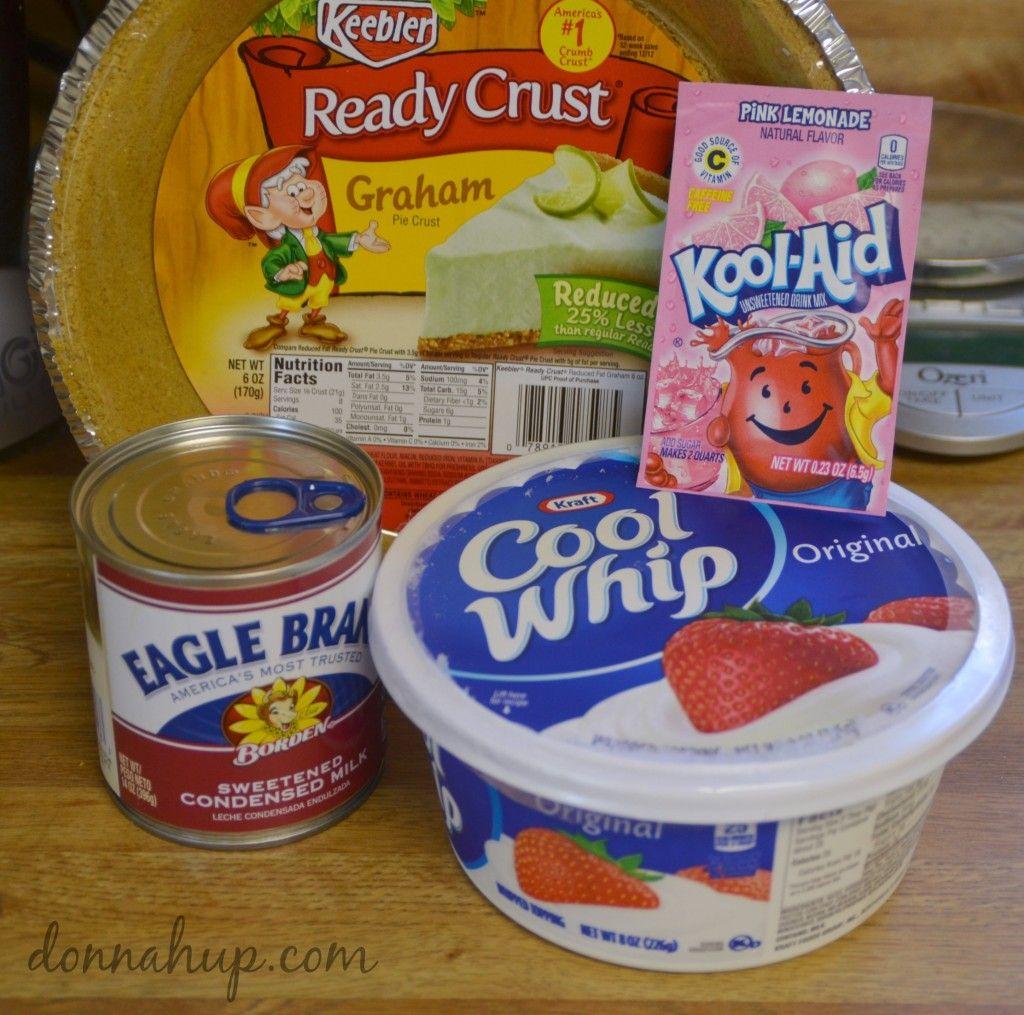 Easy Kool Aid Pie Donnahup Com Kool Aid Pie Recipe Cool Whip Pies Kool Aid