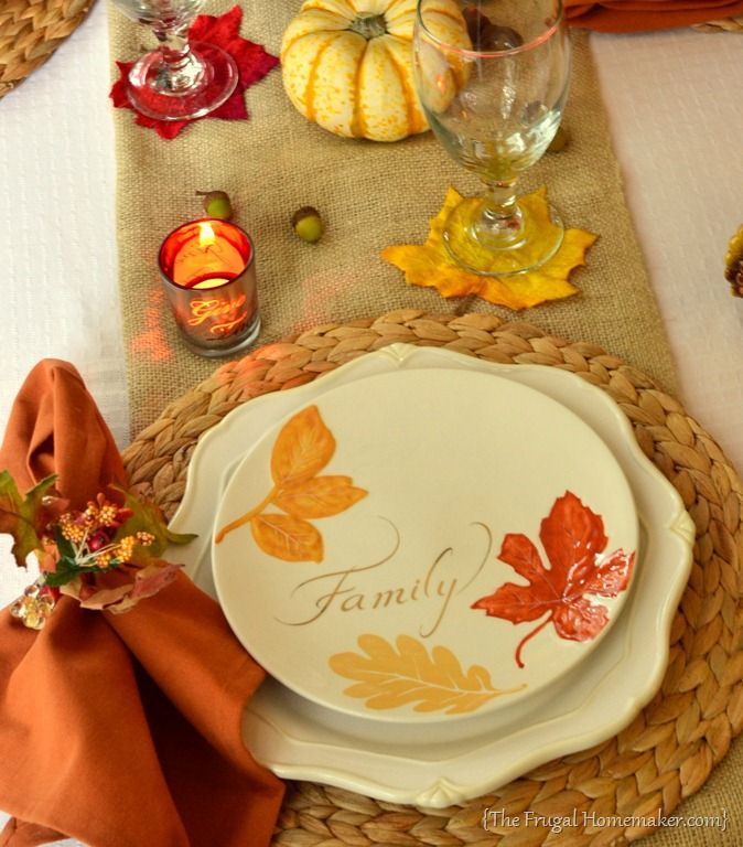 Fall table with Better Homes and Gardens dishes & Fall table with Better Homes and Gardens dishes | Holliday Themed ...