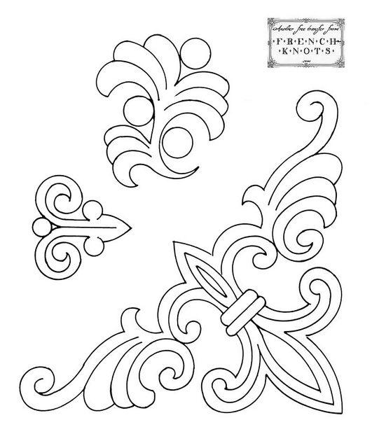 esquina | Colochos y flores. | Pinterest | Bordado, Repujado y Moldes