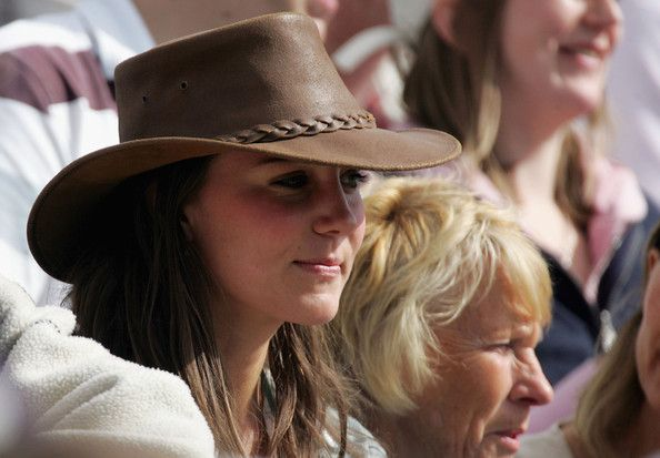 Kate Middleton, girlfriend of Prince William, watches the events in the main arena, on the second day of the Gatcombe Park Festival of British Eventing at Gatcombe Park, on August 6, 2005 near Tetbury, England.
