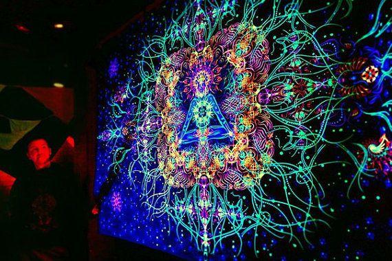 details zu backdrop reincarnation psychedelic deco wandbehang 1,5m, Gartenarbeit ideen