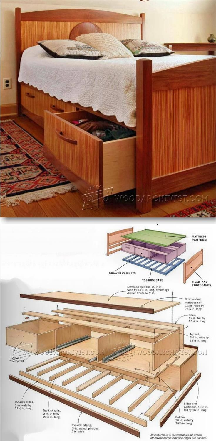 Under Bed Storage Plans - Furniture Plans and Projects   WoodArchivist.com