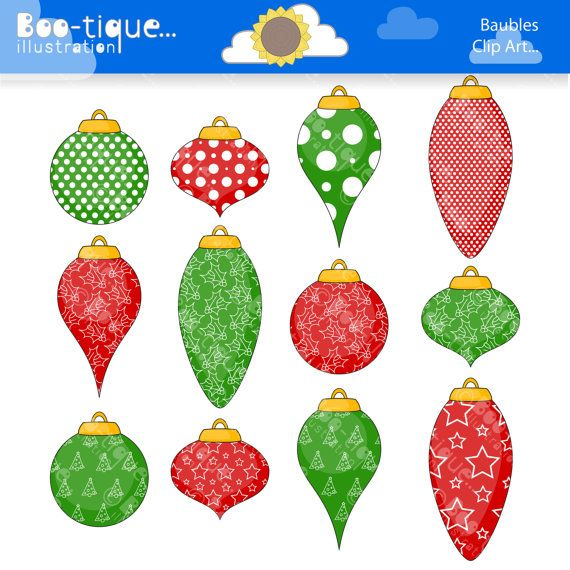 Christmas Baubles Clipart Christmas Tree Decorations Clip Art For Instant Download Xmas Clip Art Christmas Xmas Clip Art Christmas Clipart Christmas Baubles