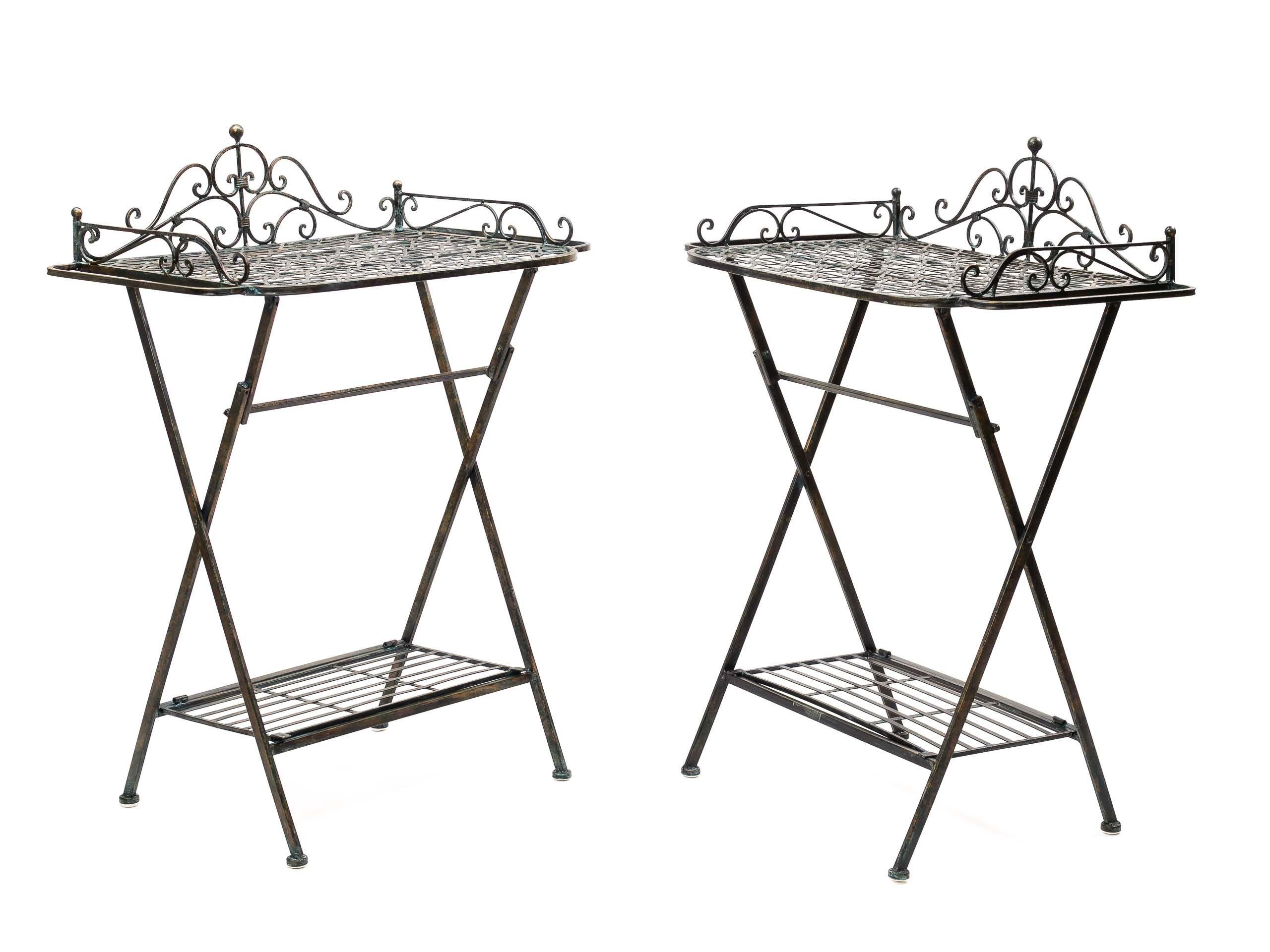 Gartentisch Gusseisen 72cm Tisch Beistelltisch Eisen Antik Stil Braun Gartentisch Beistelltisch Antik