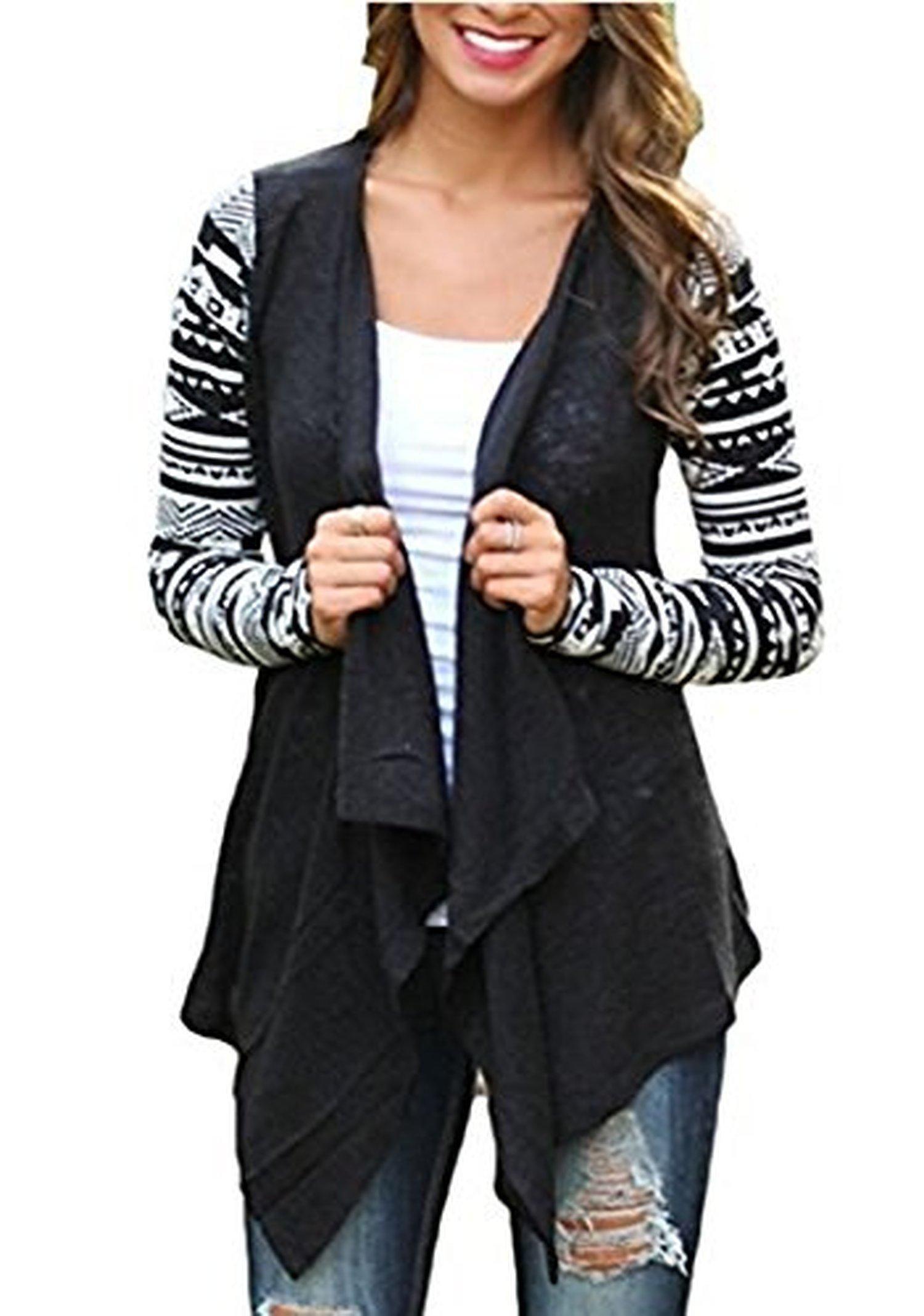 ANDI ROSE Women's Fashion Geometric Print Drape Front Cable Knit ...
