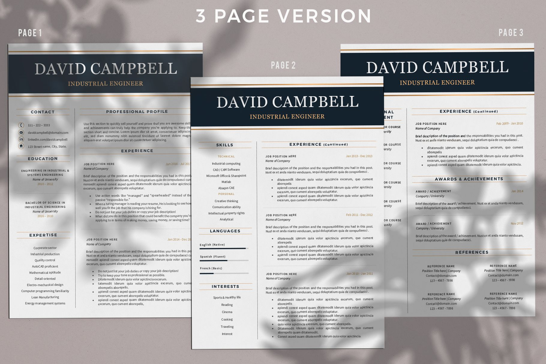Creative Resume Templates For Ms Word And Mac Pages Professional Resume Templates And Matching Engineering Resume Templates Engineering Resume Resume Template