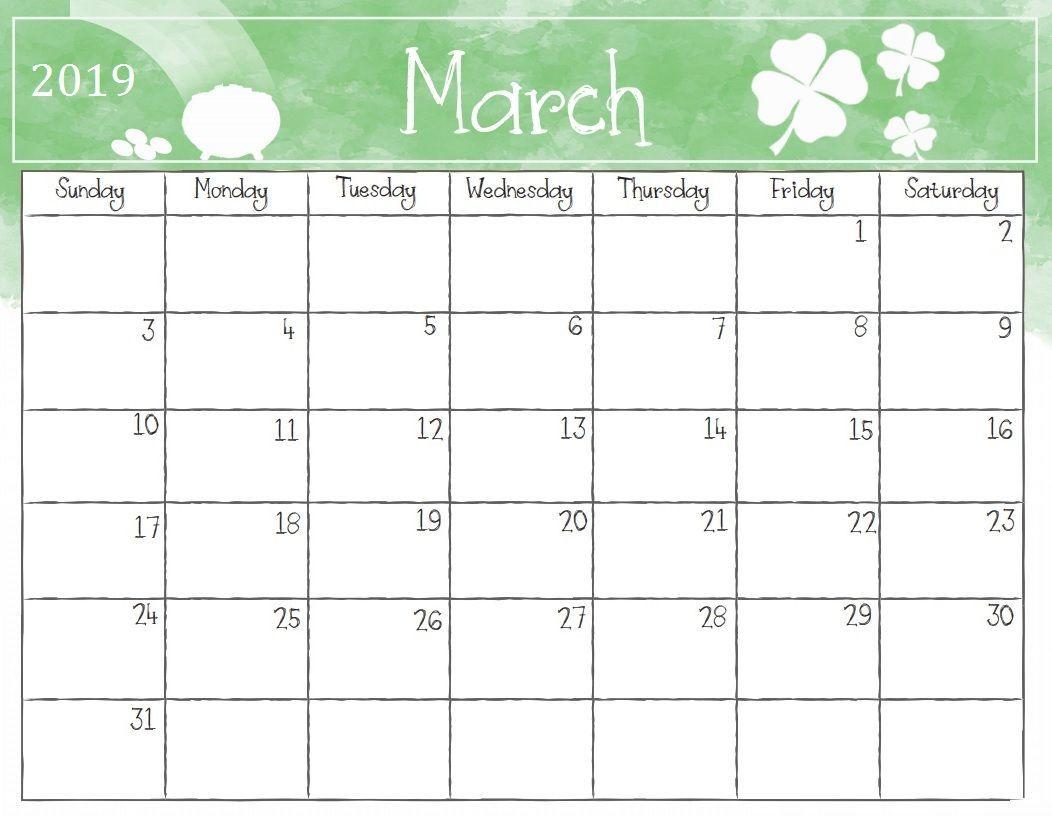 graphic regarding March Printable Calendar named Watercolor March 2019 Table Calendar #march #marchcalendar