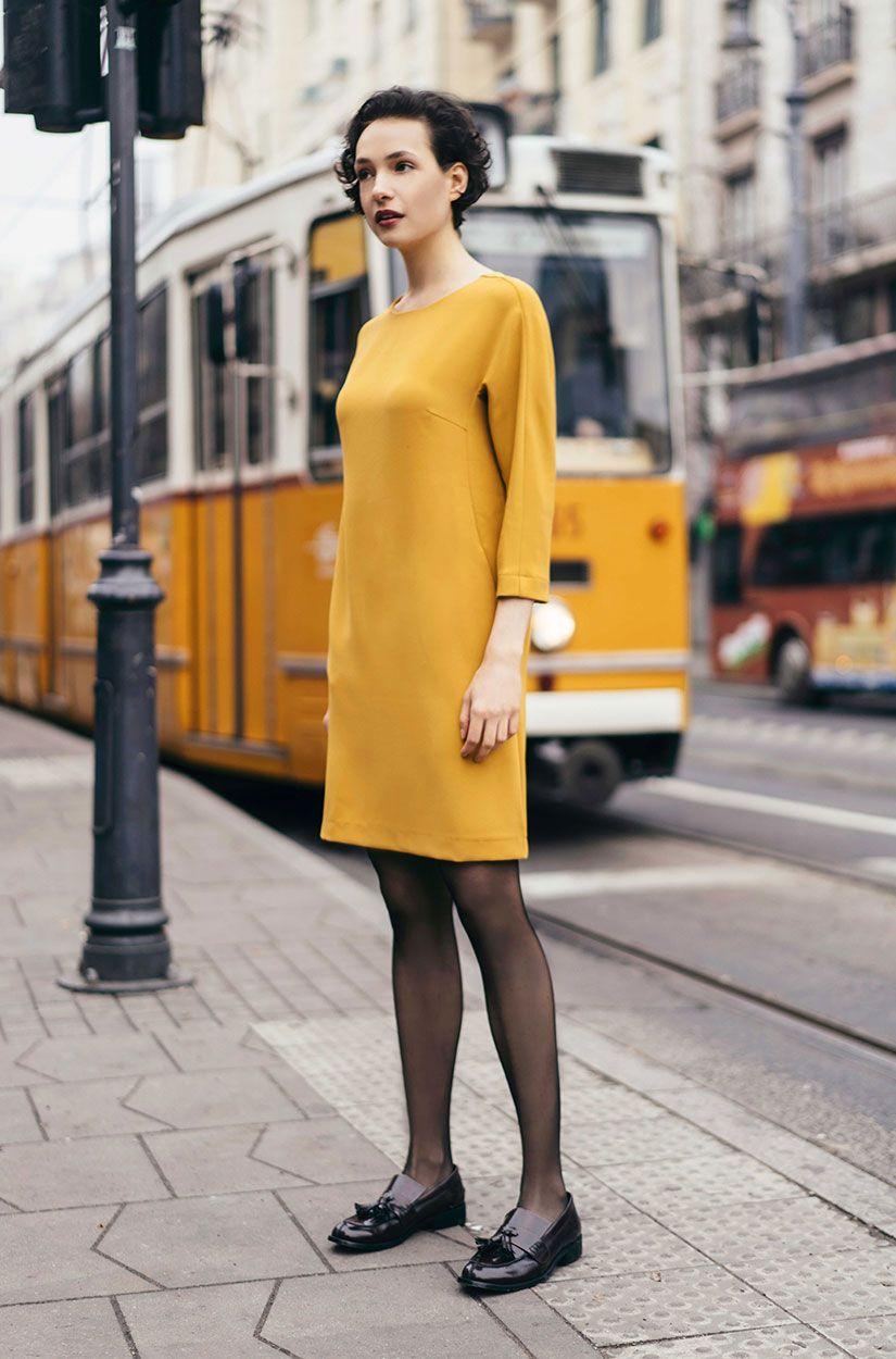 Gelbe Tunika Aus Viskose Gelbes Kleid Kleider Und Bekleidung