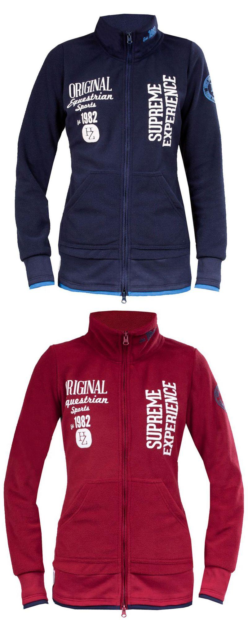 Horze doria fleece jacket a soft fleece jacket with horze logo