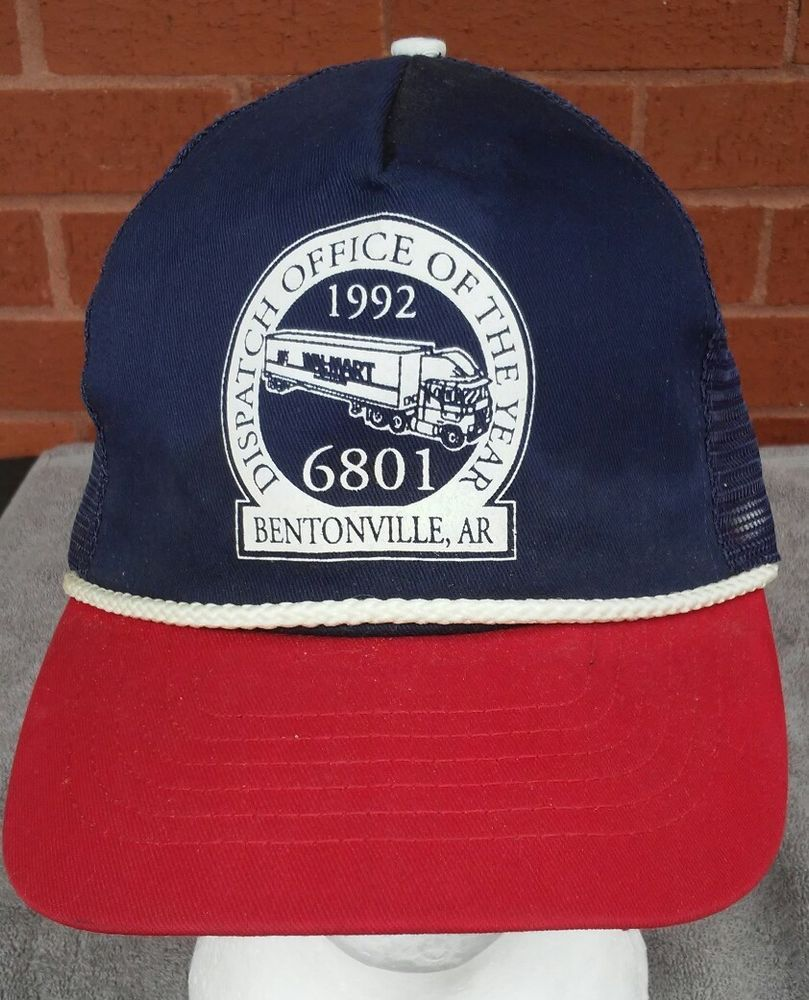 b5f81bd619b01 Walmart Hat Cap Truckers Office of the Year 1992 Bentonville Ar Snapback   WalMart  Trucker