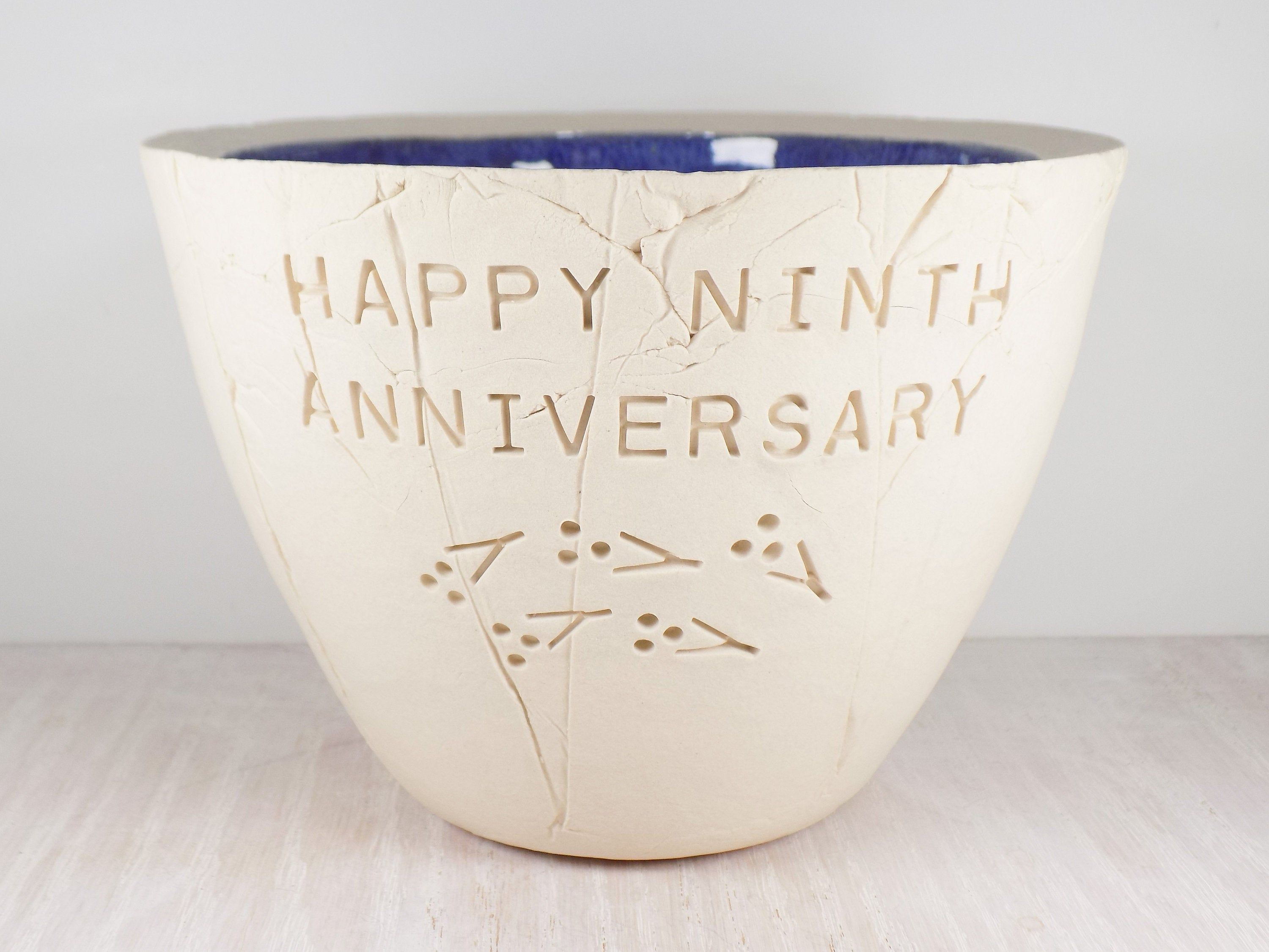 Ninth Wedding Anniversary Pottery Bowl 9th Anniversary Gift Etsy In 2020 Unique Wedding Gifts Wedding Gift Wife Anniversary Gifts