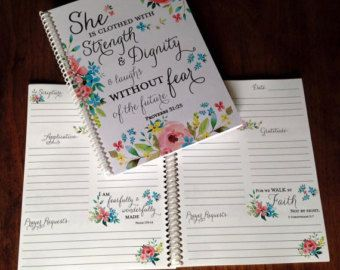 Scripture Journal - Bible Journaling - Journal - Christian gift - Scripture Journal - **Spring Floral**