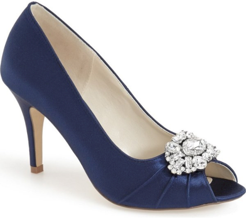 Pink Paradox London 'Tender' Open Toe Pump In Blue. A