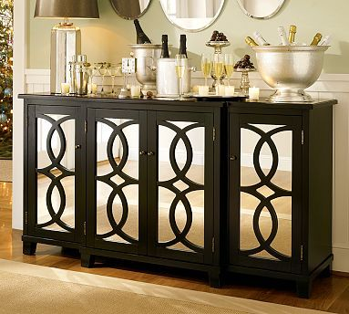 Dining Room Buffet Furniture | Terrace Mirrored Buffet From Pottery Barn  $1,299.99   ADORABLE!