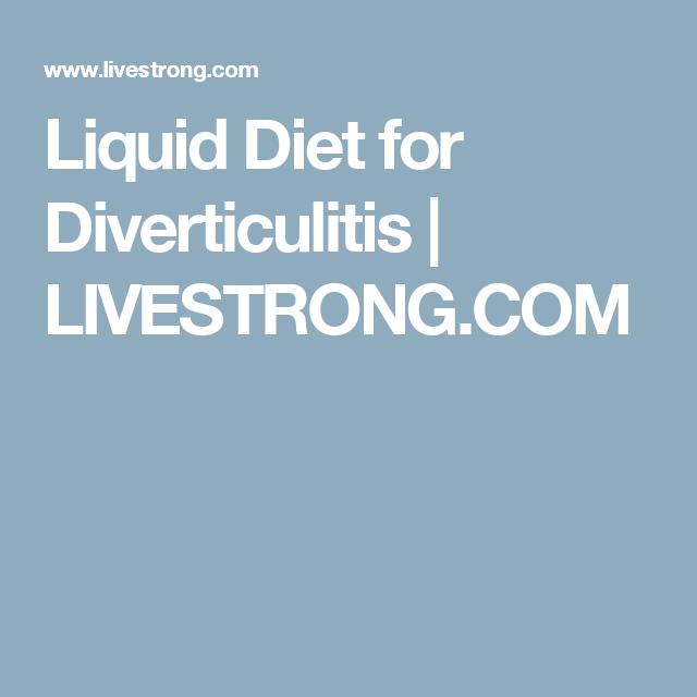 Liquid Diet For Diverticulitis