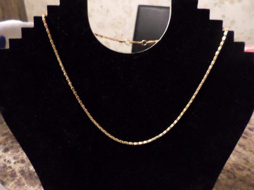 """NEW BEAUTIFUL WOMEN'S GOLD PLATED SNAKE CHAIN 16"""" LONG #Unbranded #SNAKECHAIN"""