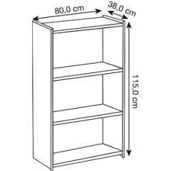 Photo of Kerkmann Lago file shelf gray 2 shelves Kerkmann