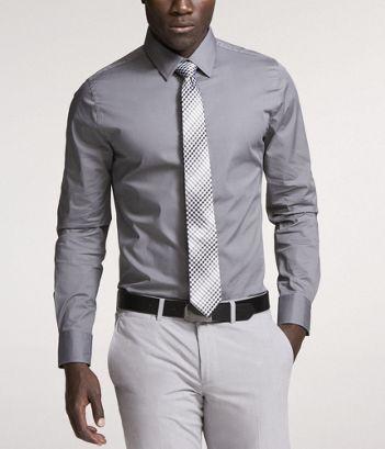 5421227a20 TA - Light grey dress shirt
