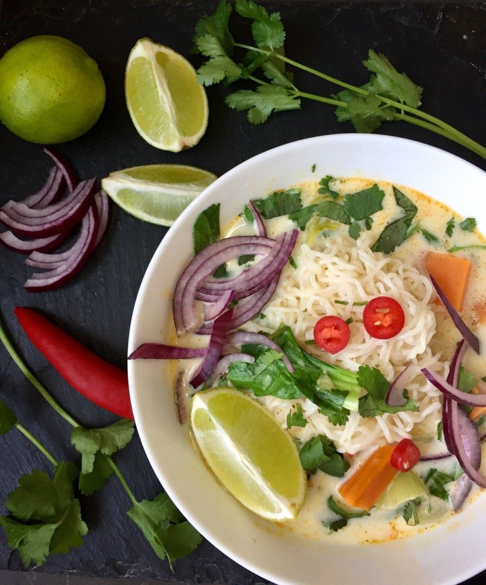 Vegan Thai Coconut Curry With Konjac Noodles
