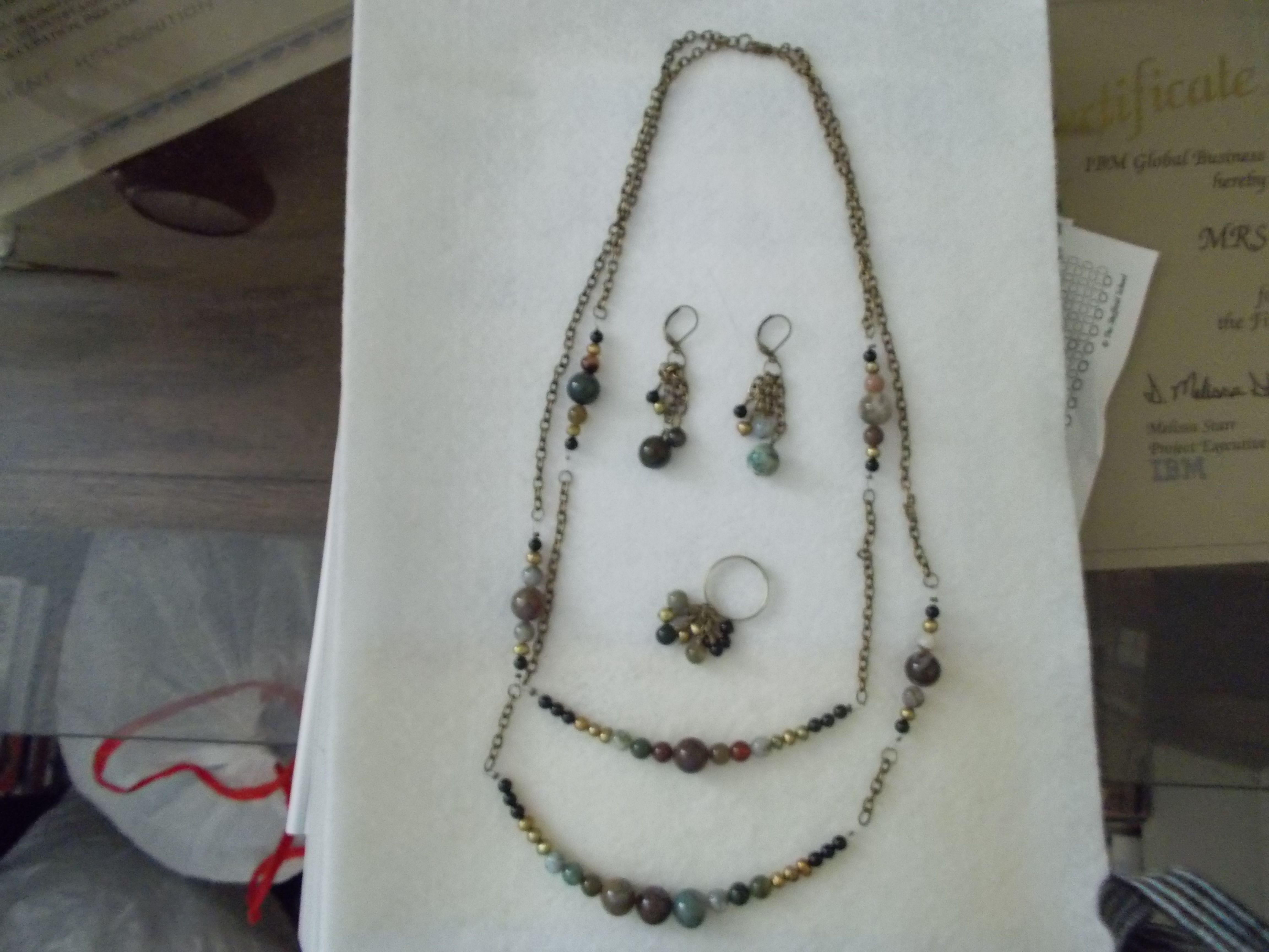 Sophisticated Stones Jewelry Set $94  AmysHandmadeJewelry.com