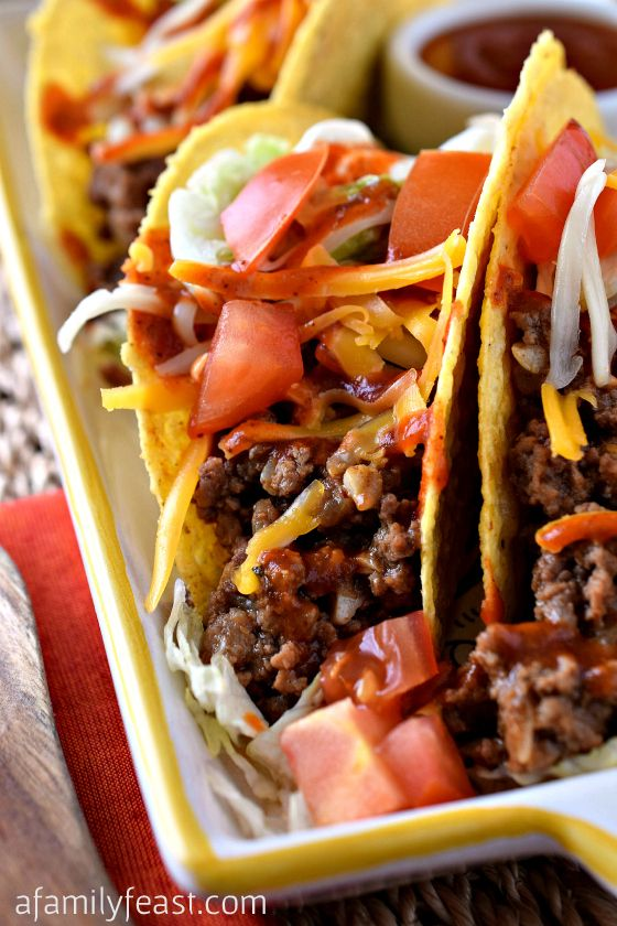 Ground Beef Tacos A Family Feast Ground Beef Tacos Beef Recipes Food