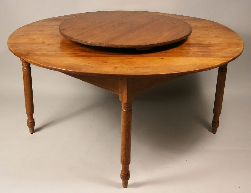 antique tables with lazy susan Bing