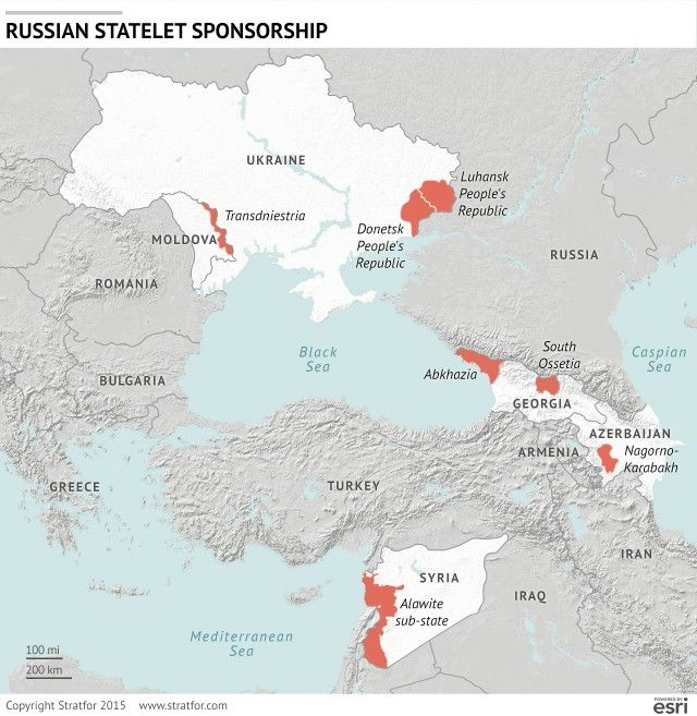 The Logic and Risks Behind Russiau0027s Statelet Sponsorship Stratfor - best of world map hungary syria